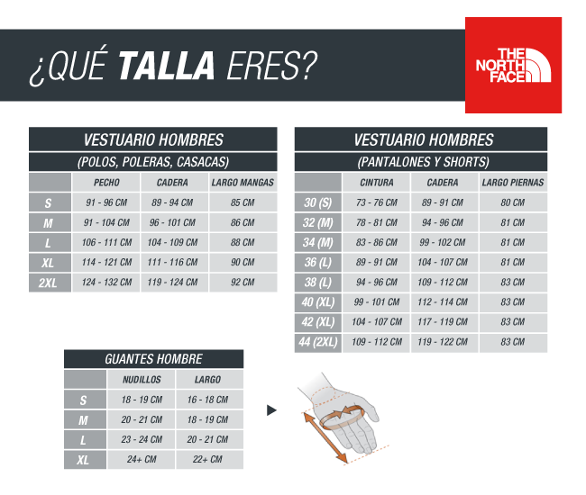 the north face talla s